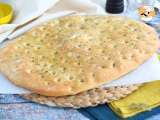 Recipe Focaccia, italian bread with rosemary