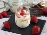 Recipe Tiramisu verrines with strawberries