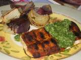 Recipe Bobby flay's barbequed mahi with cilantro pesto