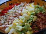 Recipe Cool composed concoction: cobb salad with grilled onion blue cheese dressing