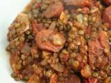 Recipe Spicy lentils with chorizo