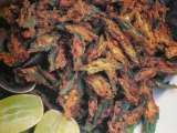 Recipe Sunheri bhindi ( lady fingers sliced and deep fried )