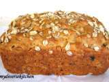 Recipe Honey oatmeal raisin quick bread