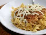 Recipe Buttered egg noodles w/parmesan chicken.