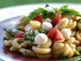 Recipe Caprese pasta salad with lemon vinaigrette