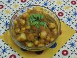 Recipe Chickpeas and whole yellow peas masala