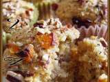 Recipe Lowfat eggless banana walnut apricot muffin / bread / cake