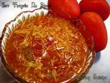 Recipe Jain sev tameta nu shaak ( sev tomato curry)