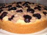 Recipe Fresh cherry cake with a hint of cinnamon