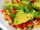 Recipe Zesty avocado tomato and lime salad