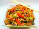 Recipe Spicy whole wheat noodles and vegetable stir fry - indian chinese ishtyle