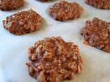 Recipe No-bake chocolate, peanut butter & oatmeal cookies