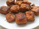 Recipe Baked salmon cubes
