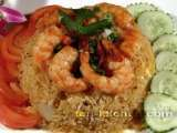 Recipe Thai fried rice with prawns (khao pad goong)