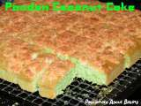Recipe Pandan coconut cake