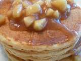 Recipe Whole wheat pancake and waffle blender mix with apple cinnamon topping