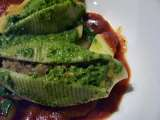 Recipe Stuffed shells with spinach basil pesto