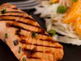 Recipe Grilled salmon with a brown sugar and soy glaze