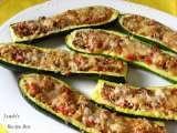 Recipe Stuffed zucchini (slightly adapted from emeril lagasse)