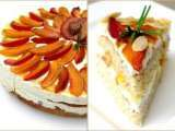 Recipe Almond nut torte with quark, peaches and plums...& my blogiversary winner