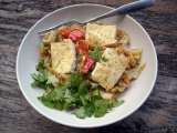 Recipe Gingery tofu and cabbage stir-fry