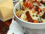 Recipe Easy pasta recipes - pasta with butternut, biltong and bacon