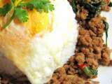 Hot basil minced meat rice