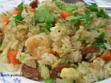 Recipe Chicken sausage and shrimp fried rice