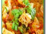 Recipe A kiddies delight- dinosaurs pasta in a vegetable medley