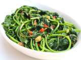 Recipe Stir-fry sweet potato leaves with roasted shrimp paste