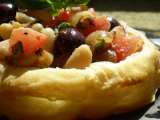 Recipe Vegan antipasto tart in vegan no-fuss puff pastry crust