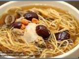 Recipe Double-boiled ginseng roots and chicken soup recipe
