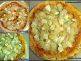 Recipe Hawaiian pizza homemade pizza with pineapple, cottage cheese and bell pepper