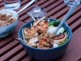 Recipe Rice vermicelli with grilled shrimp (bun tom xao)