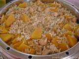 Recipe Steamed pumpkin rice