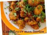 Recipe Caulifower-gobhi manchurian - a chinese recipe made indian style