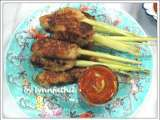 Recipe Sate lilit bali with sambal jeruk / wrapped balinese satay with spicy lemon dip