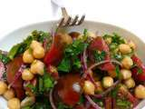 Recipe Chickpea and tomato salad