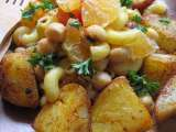 Recipe Curry mac salad and smoked potatoes (fat free & gluten free & soy free)
