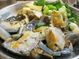 Recipe Wok-fry blue crabs with ginger and green onions