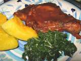 Recipe Orange pork chops - in a sweet, toffee coloured sauce
