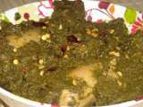 Recipe Saag murg (chicken in a spinach puree)