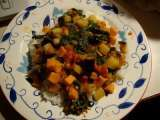 Recipe Sweet potato, eggplant, tomato, and spinach curry