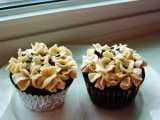 Recipe Chocolate peanut butter cupcakes with whipped cream pb cream cheese frosting