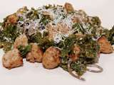Recipe Braised kale with soba noodles and turkey sausages... and buddha's hand zest