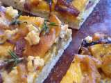 Recipe Vegan roasted butternut squash and red onion pizza with the very best vegan pizza crust