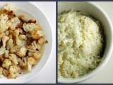 Recipe Cauliflower disguised in two-ways: mashed potatoes and popcorn