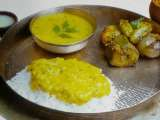 Recipe Sambhariye jo shak ( stuffed mixed vegetables ) & lachko ( kathan dal )