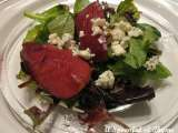 Recipe Mulled pear salad with blue cheese dressing