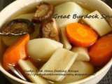 Recipe Great burdock soup with white radish, carrot & shitake mushroom
